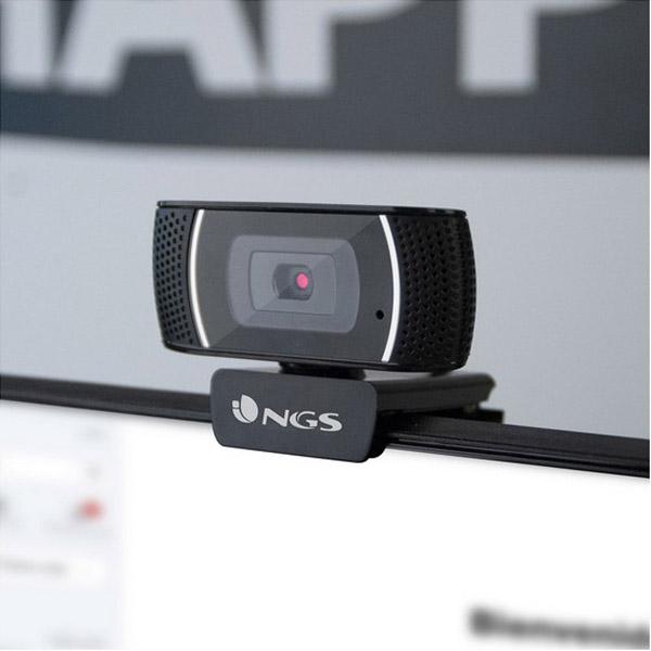 Webcam NGS XPRESSCAM1080 1080 px Black