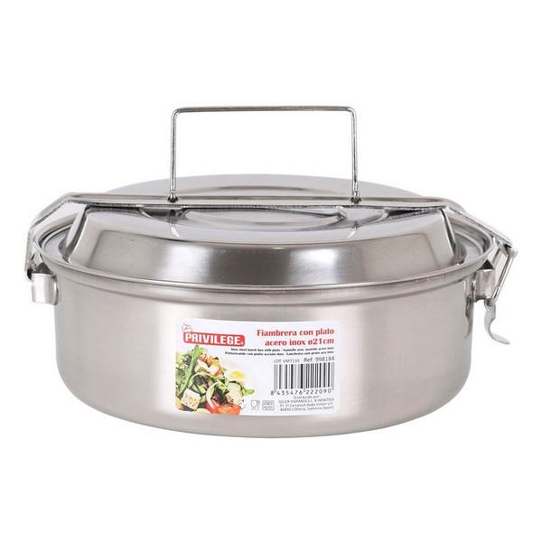 Lunch box Privilege Stainless steel (ø 21 x 8,5 cm)