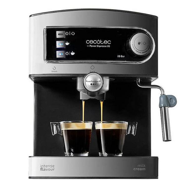 Cafetera Express de Brazo Cecotec Power Espresso 20 1,5 L 850W Negro Inox