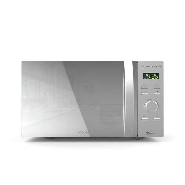 Microondas con Grill Cecotec ProClean 9110 30 L 1000W Plateado