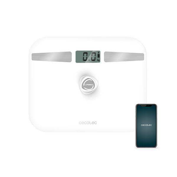 Digital Bathroom Scales Cecotec EcoPower 10200 Smart LCD Bluetooth 180 kg White