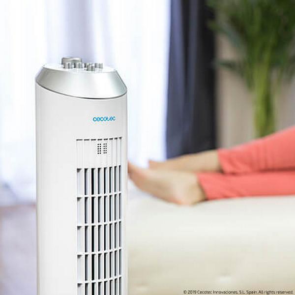 Vežový ventilátor Cecotec ForceSilence 8090 Skyline 60W Biela