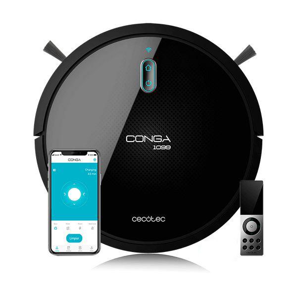 Robotický vysávač Cecotec Conga 1099 Connected, čierny