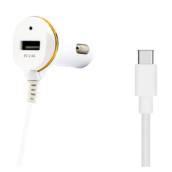 Car Charger Ref. 138239 USB White Computers Electronics