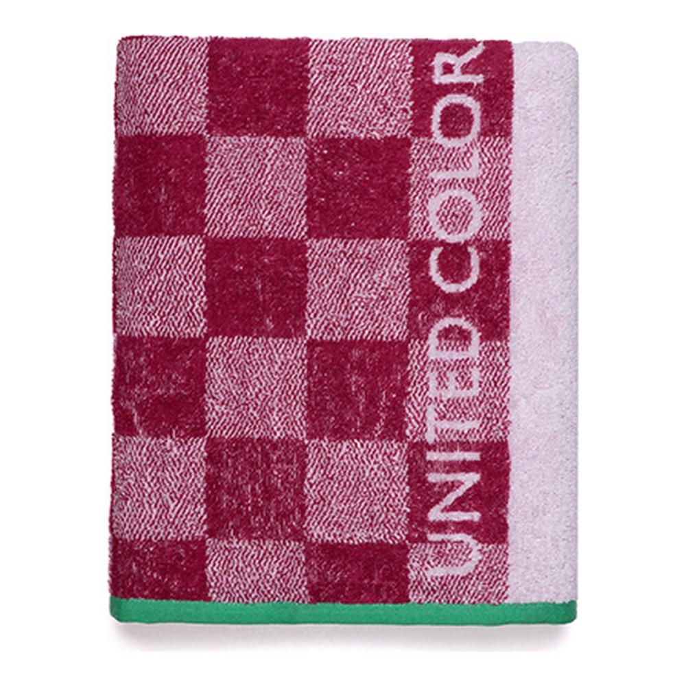 Beach Towel Benetton Squares Pink (70 x 140 cm)