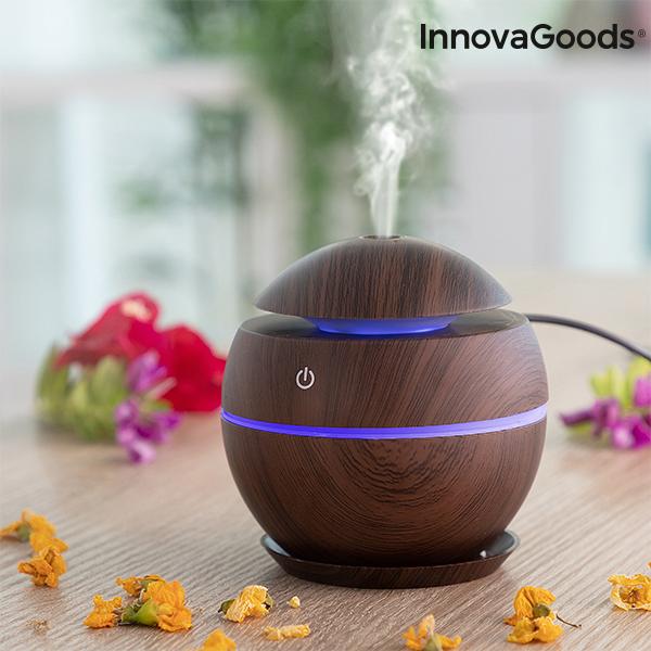 Mini Humidifier Scent Diffuser Dark Walnut InnovaGoods