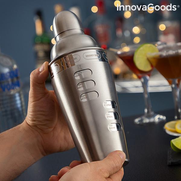 Shaker à cocktail avec recettes de cocktails intégrées Maxer InnovaGoods