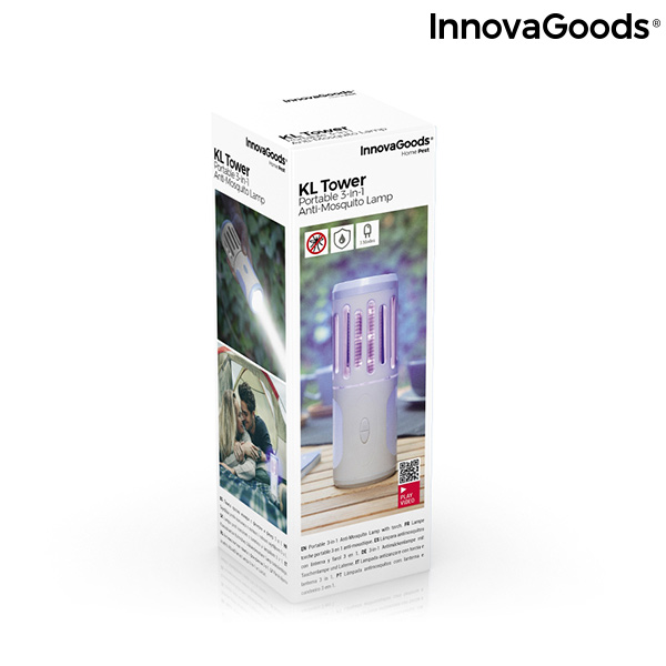 Lampe Antimoustiques lanterne et torche portable 3 en 1 Kl Tower InnovaGoods