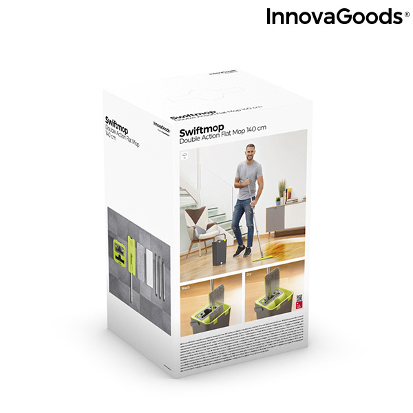 Serpillère avec seau à double action Swiftmop InnovaGoods