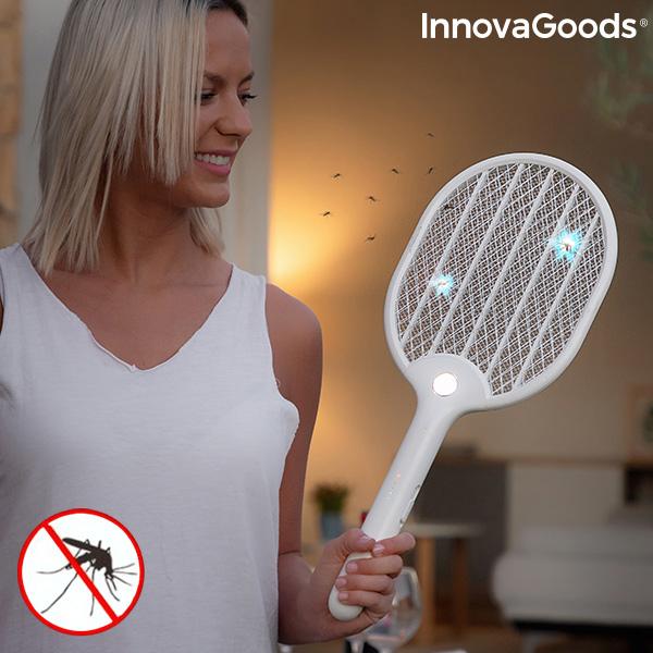 Raqueta Matainsectos Recargable con LED Rackill InnovaGoods