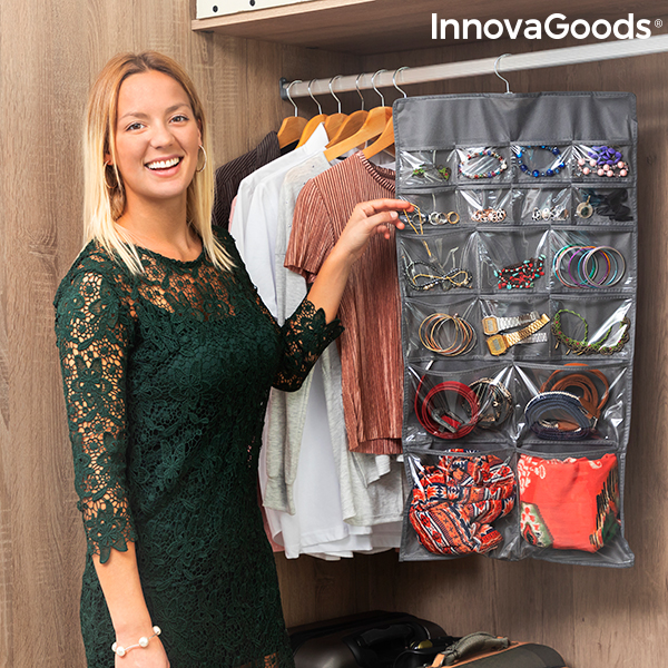 Hanging Organiser with Rack for Jewellery and Accessories Bijette InnovaGoods (36 Pockets)