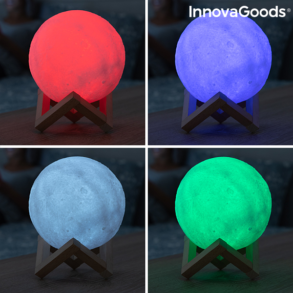 Lampe LED Rechargeable Lune Moondy InnovaGoods