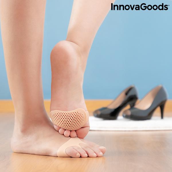 Almohadillas Metatarsianas de Gel de Silicona SilStep InnovaGoods (Pack de 2)