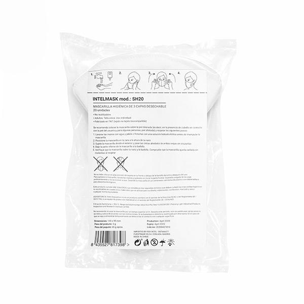 Mascarilla Higiénica Intelmask SH20 Soft Harness (Pack de 20) (1)