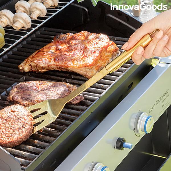 Étui de Luxe avec Ustensiles pour Barbecues BBQase InnovaGoods (6 Pièces)
