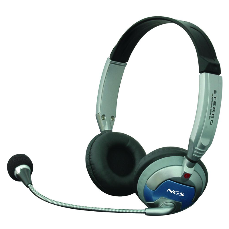Headphones with Microphone NGS MSX6Pro Headband Grey