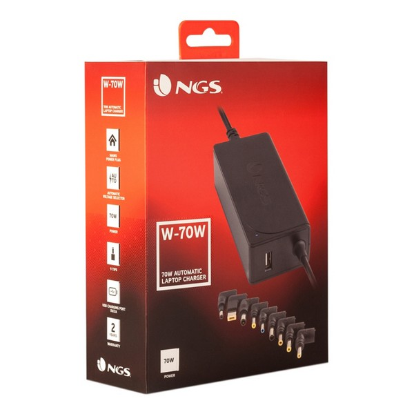 Laptop Charger NGS W-70 230V 70W Black Computers Electronics