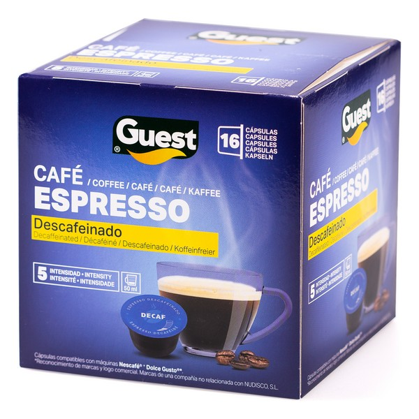 Coffee Capsules Espresso Guest Decaffeinated (16 uds)