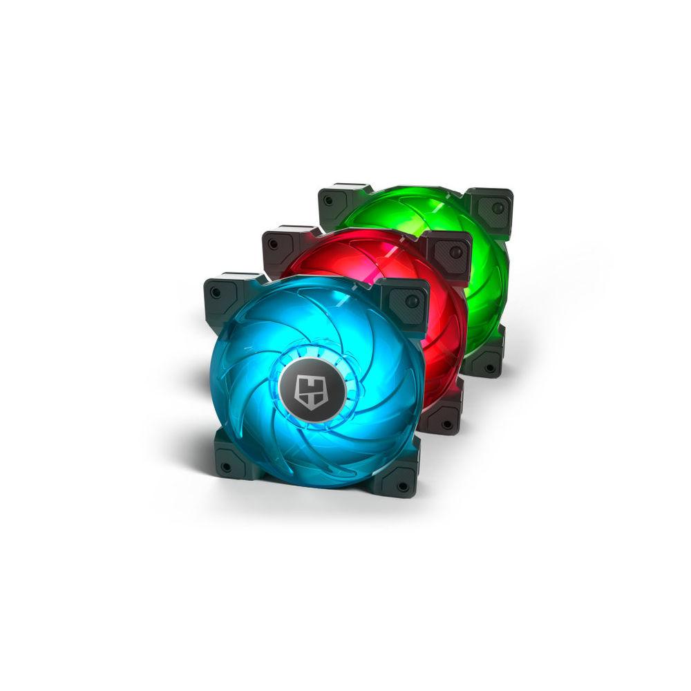 Box Ventilator NOX HUMMER H-SYNC RGB LED Ø 12 cm (3 pcs)