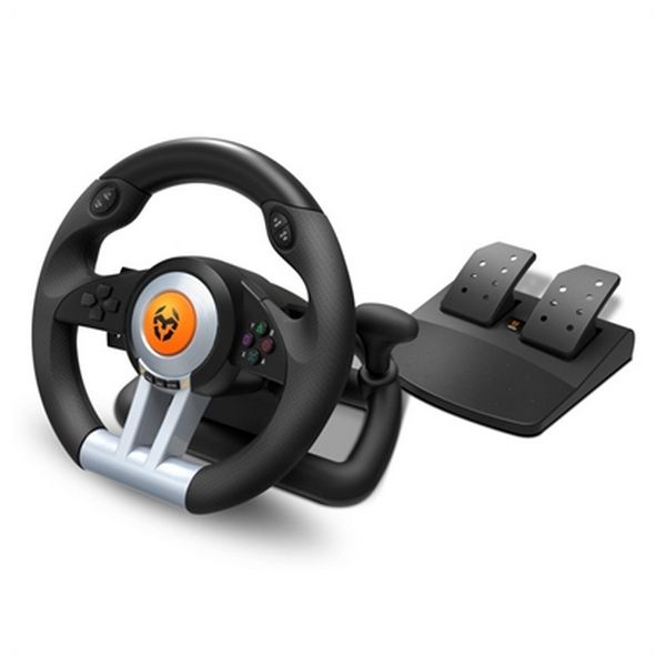 Racing Steering Wheel Krom NXKROMKWHL USB Black Computers Electronics