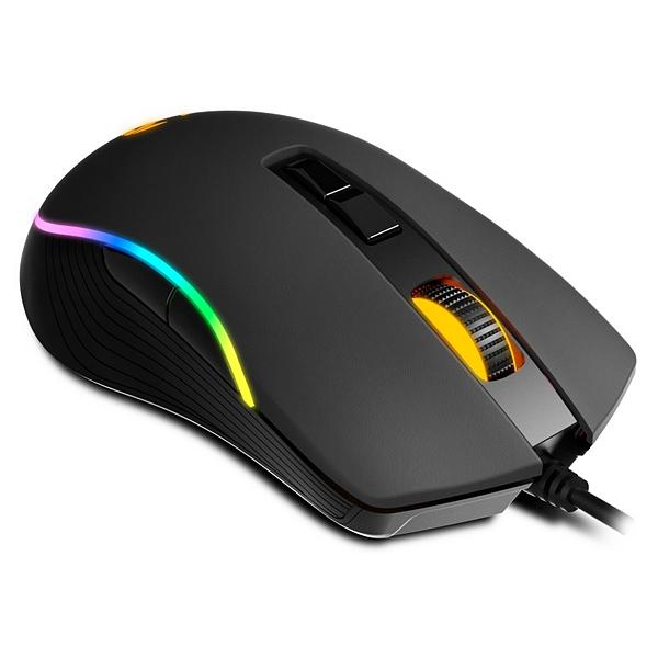 Ratón Gaming con LED Krom NXKROMKANE RGB Negro