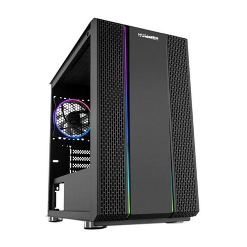 Caja Minitorre Micro ATX / ITX NOX Hummer Fusion RGB LED Negro