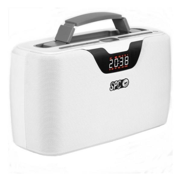 PortableBluetooth Radio SPC Radio Storm Boombox 4503B 20W White