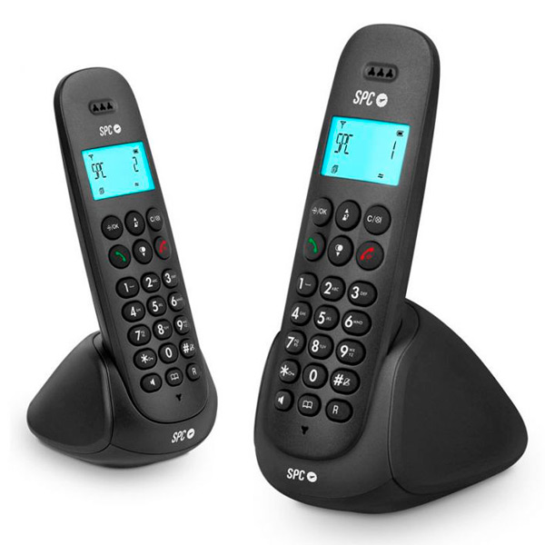 Teléfono Inalámbrico DUO Telecom 7312N DECT Negro