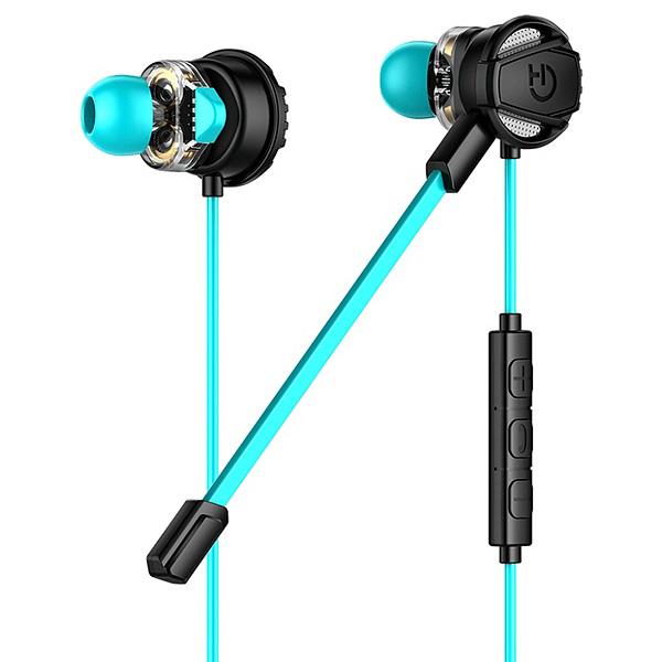 Auriculares con Micrófono Gaming Hiditec GHE010002 (3.5 mm) Negro Azul