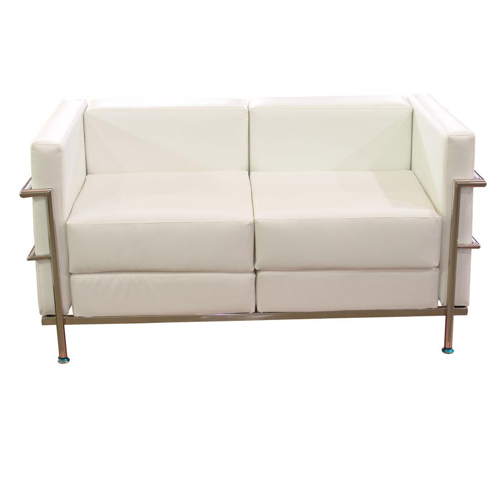 2-Seater Sofa Tarazona P&C 72PSPBL White