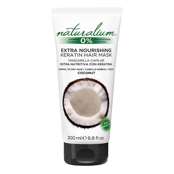 Hranljiva maska za lase Coconut Keratin Naturalium (200 ml)