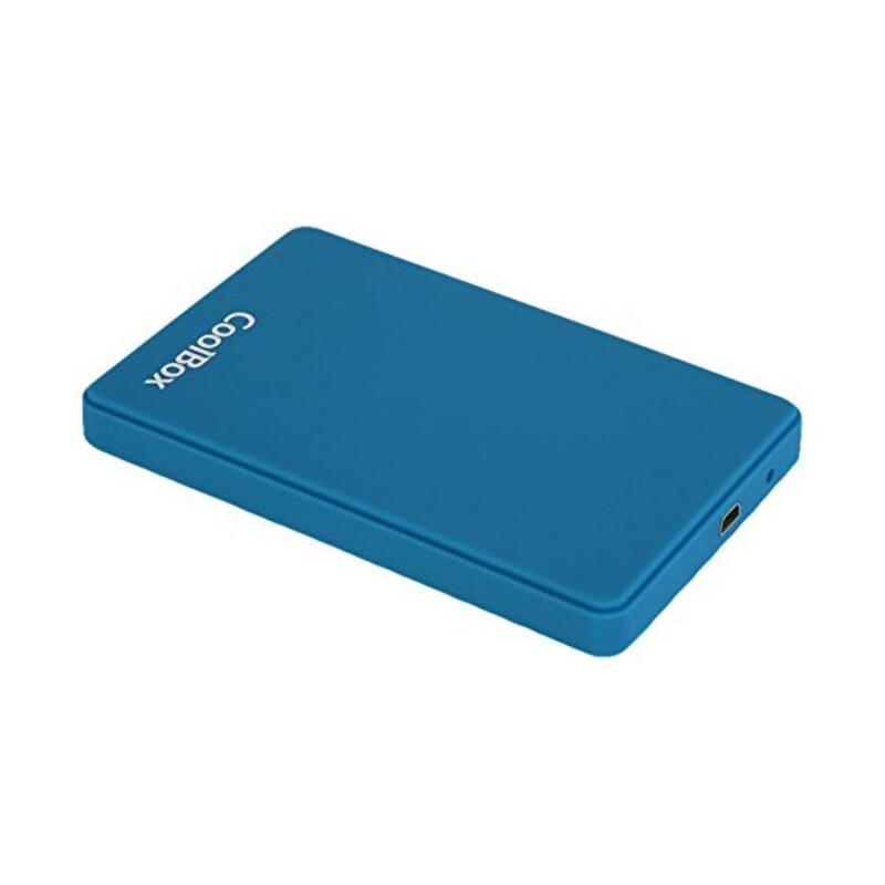 "External Box CoolBox COO-SCG2543-6 2,5"" SATA USB 3.0 Blue Computers Electronics"
