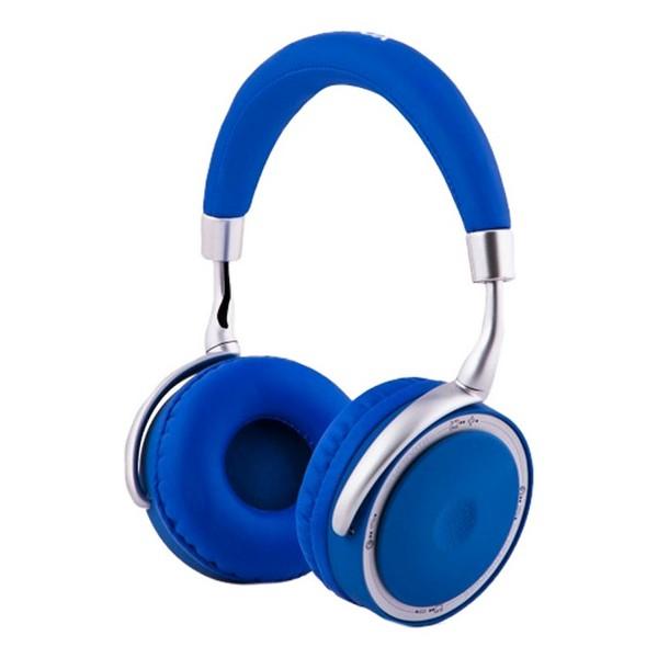 Auriculares de Diadema Plegables con Bluetooth CoolBox COO-AUB-12BL 300 mAh Azul