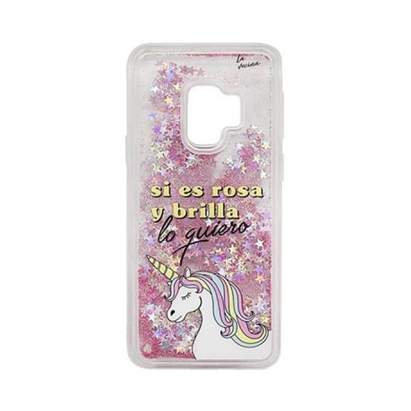 Case Samsung S9 Tan Tan Fan TFCAR045 Transparent Pink
