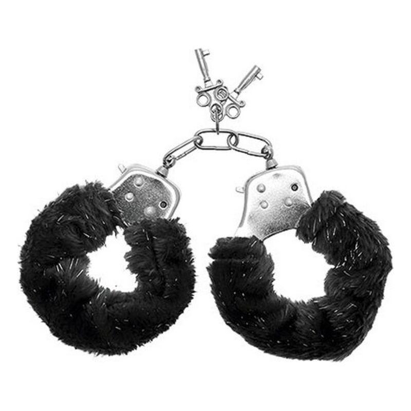 Cuffs S Pleasures Furry Black