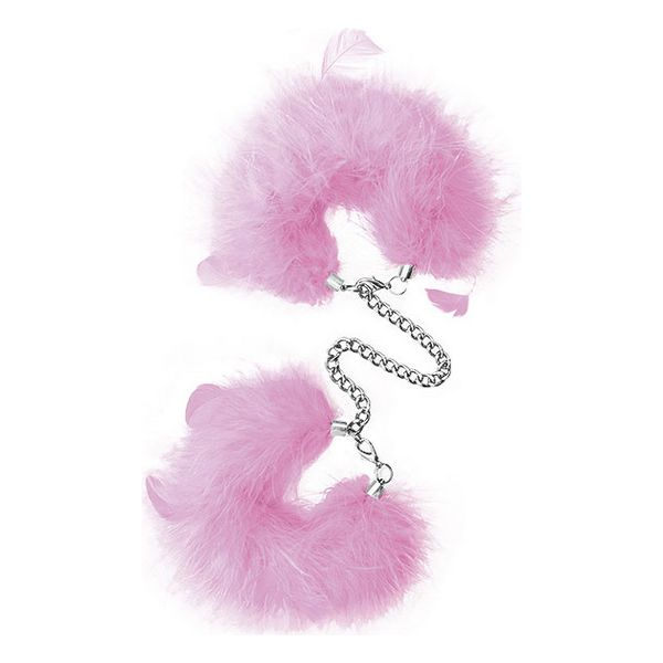 Cuffs S Pleasures Feather Pink