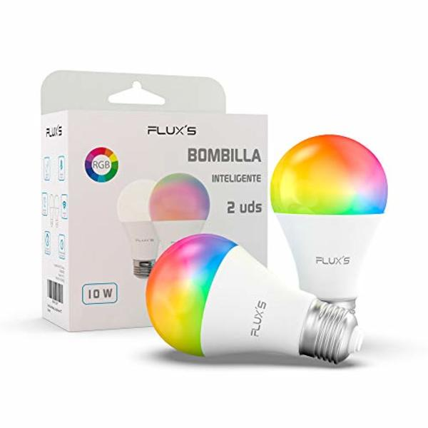 Smart Light bulb Flux's LED Wi-fi E27 10W Multicolour (2 pcs)