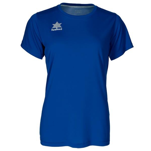 Women's Short Sleeve T-Shirt Luanvi Pol Blue