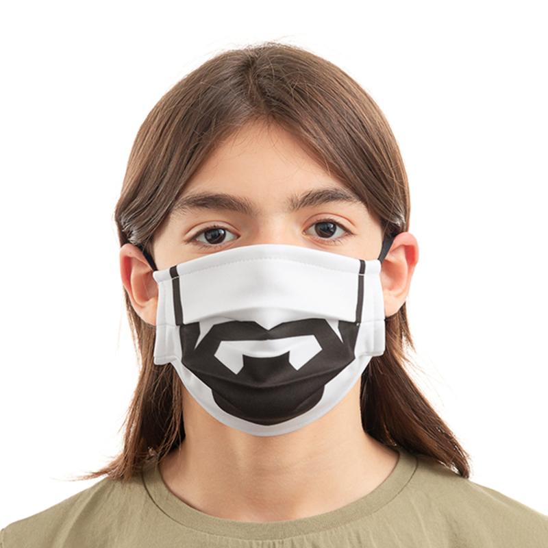 Mascarilla Higiénica de Tela Reutilizable Beard Luanvi Talla M (Pack de 3) (4)