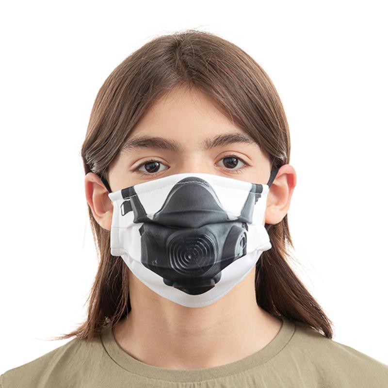 Mascarilla Higiénica de Tela Reutilizable Gas Luanvi Talla M (Pack de 3) (4)