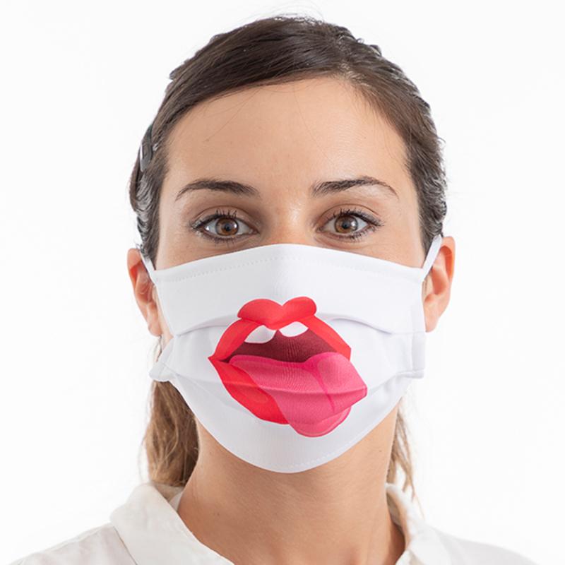 Mascarilla Higiénica de Tela Reutilizable Tongue Luanvi Talla M (Pack de 3) (4)