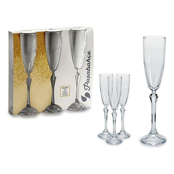 Copa de champán Vidrio 3 (3 Piezas) (6,5 x 25 x 25,5 cm) (4)