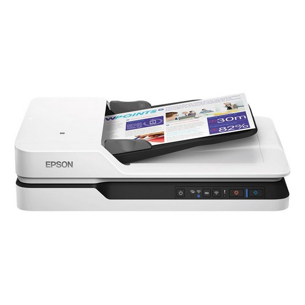Dual Face Wi-Fi Scanner Epson WorkForce DS-1660W 1200 dpi LAN White