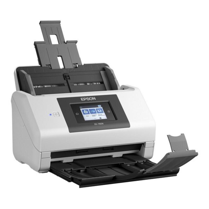 Dual Face Scanner Epson DS-780N 600 dpi USB 3.0 LAN White