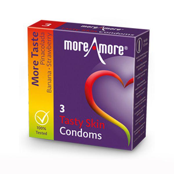 Preservativos Tasty Skin (3 pcs) MoreAmore 42153