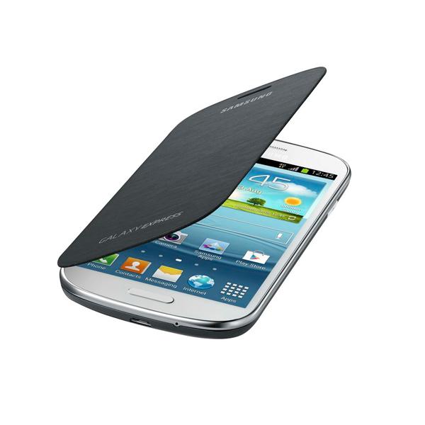Funda Folio para Móvil Samsung Galaxy Express I8730 Gris