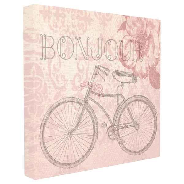 Canvas Bonjour Vintage (62 x 5 x 62 cm) (Refurbished C)