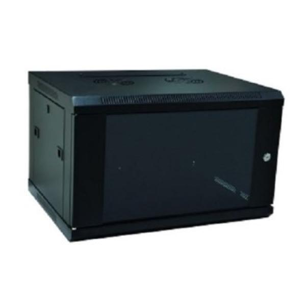 Wall-mounted Rack Cabinet WP WPN-RWB-06605- 6 U 600 x 500 x 370 mm Black