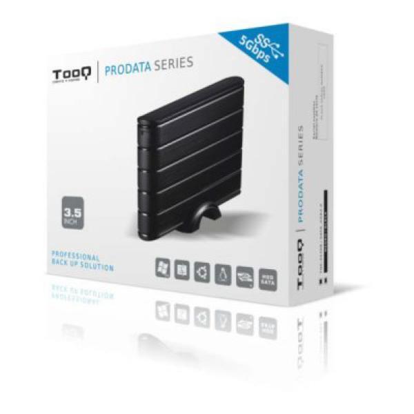 """External Box TooQ TQE-3530B HDD 3.5"""" SATA III USB 3.0 Black Computers Electronics"""