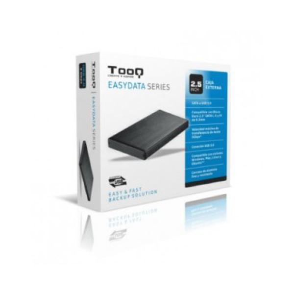 "External Box TooQ TQE-2527B HDD 2.5"" SATA III USB 3.0 Black Computers Electronics"